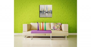 Sailing Boat Framed Oil Painting
