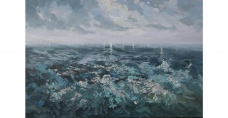 Sailing Handmade Oil Painting