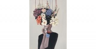 Lady Head Handmade Oil Painting