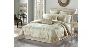 Kris 260 x 270 Jacquard Comforter Set - 5Pc