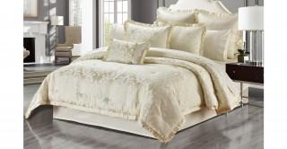 Brenna 260 x 270 Jacquard Comforter Set - 5Pc