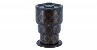 Portobello 3-Tier Collapsible Cup With Bag Black