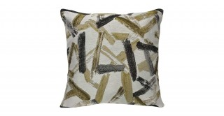 Stroke Chinille Cushion Yellow