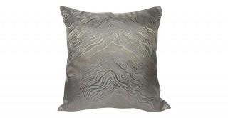 Marble Jacquard Cushion Grey