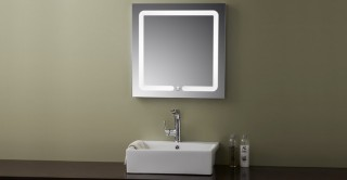 Square Wall Mirror With Light