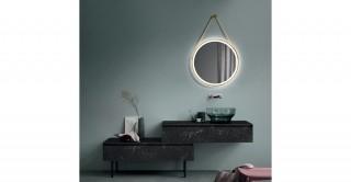 Lyros Gold Round Led Mirror 60 cm