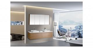 Ella Double Cabinet With Basin& Mirror