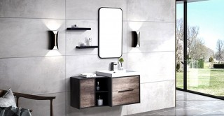 Abella Cabinet With Basin,Shelves & Mirror