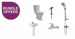 6 Pcs Package WC + Full Pedestal Washbasin