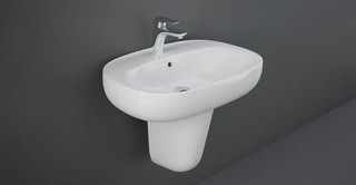 Illusion Wash Basin Half Pedestal 60 cm