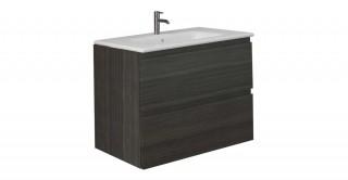 Joy Bathroom Cabinet+Basin Walnut