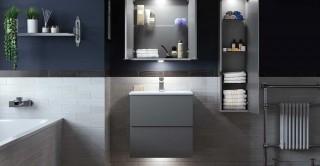 Joy Bathroom Cabinet+Basin Grey