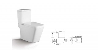 Bane Wc + Tank + Seat and Cover