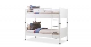 White Bunk Bed 90 x 200 cm