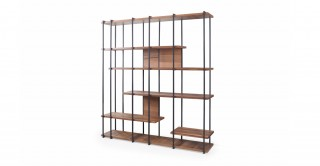 Cooper Bookshelf Natural Walnut/Black