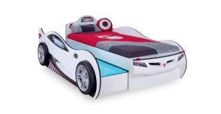 Cilek Coupe Kids Bed  208 x 109 cm + Pullout - White