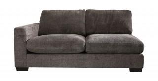 Miami 2 Seater L-Arm Sofa Dark Grey