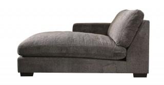 Miami Left Chaise Sofa Dark Grey