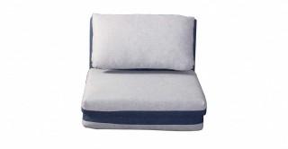 Lovie Foldable Sofa Bed, Grey/Blue