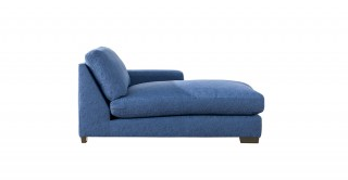 Miami Right Chaise Sofa Dark Blue