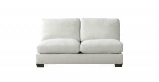 Miami 2 Seater Armless Sofa Off White