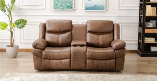 Santiago 2 Seater Sofa Brown