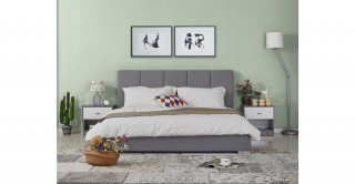 Pepper Bed 180 x 200 cm  Grey