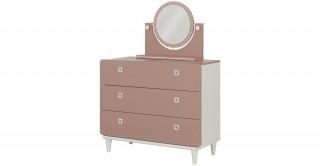 April Kids Dresser With Mirror