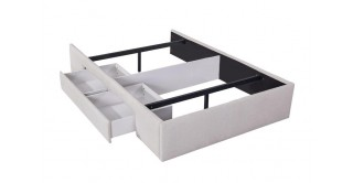 Bed Base With 1 Drawer 140X200 Beige