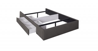 Bed Base With 1 Drawer 140X200 Lightgrey