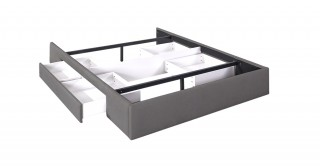 Bed Base With 2 Drawers 160X200 Light Grey