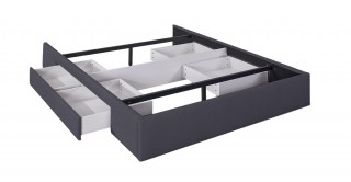 Bed Base With 2 Drawers 180X200 Dark Grey