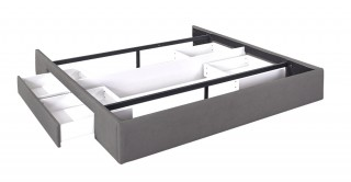 Bed Base With 2 Drawers 200X200 Light Grey