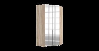 Nya Corner Wardrobe Oak With Mirror