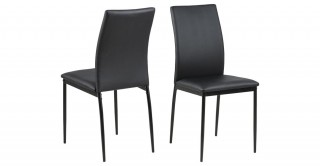 Demina Dining Chair, Black