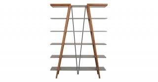 Renzo Bookshelf Walnut/Grey