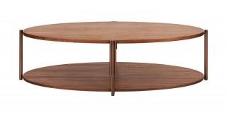 Toscana Coffee Table - Walnut/Brass