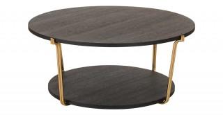 Como Coffee Table - Black Oak/Gold