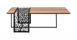 Zaha Coffee Table Walnut/Black