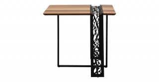 Zaha End Table Walnut/Black