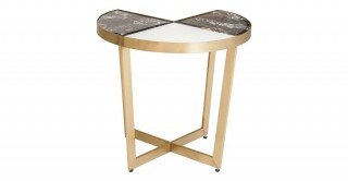 Riva Side Table - Marble/Gold