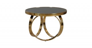 Vienna End Table - Black/Gold