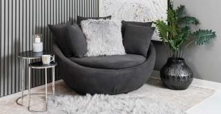 Ronda 1 Seater Arm Chair, Grey