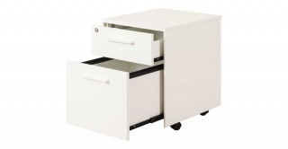 Brady 2-Drawer Small Cabinet Warm White