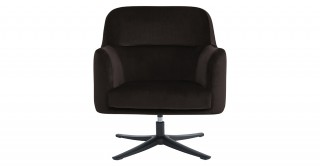 Montville Swivel Arm Chair Brown