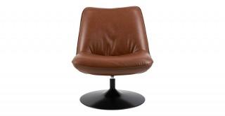 Nanna Swivel Chair Brown Pu