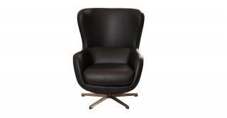 Porto Swivel Arm Chair Black Pu