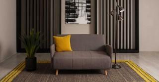 Deina 2Seater Sofa Bed Grey