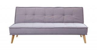 Davin 3 Seater Sofa Bed Light Grey