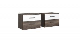 Svenja Bedside Cabinets 38 x 104 x 40 Oak